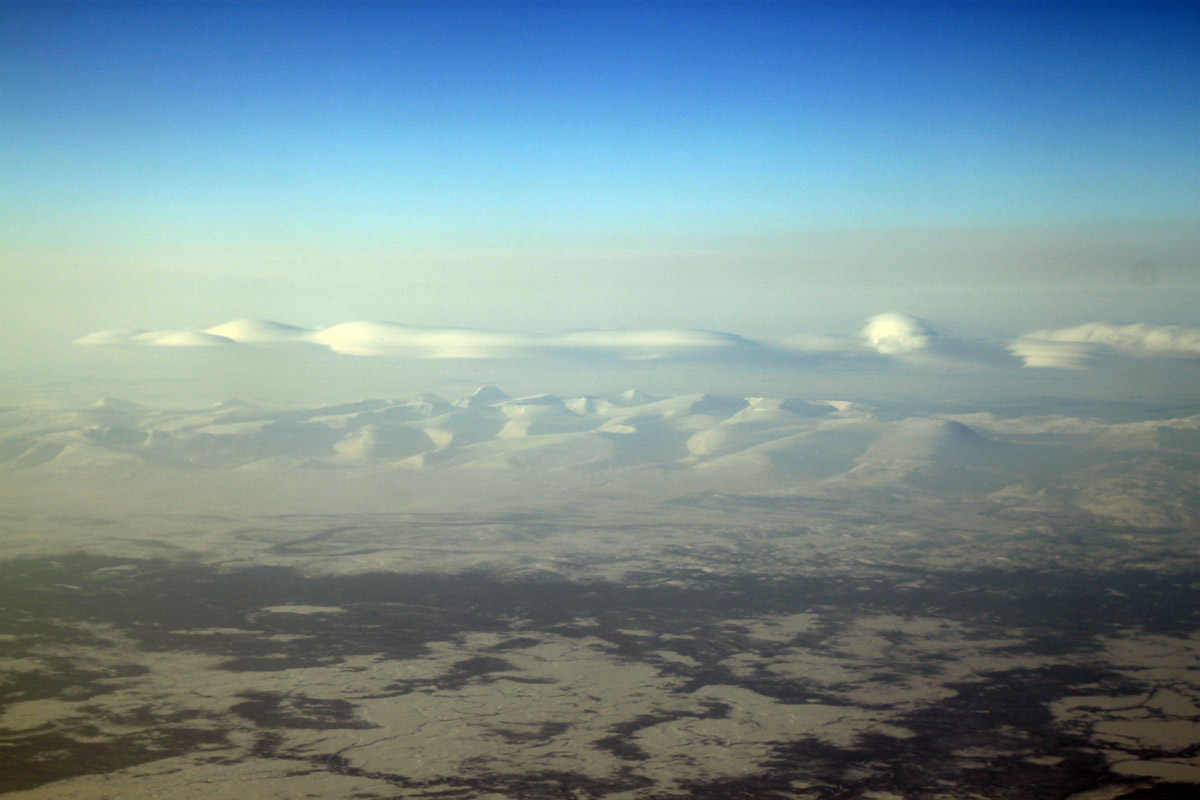 Северный Урал с самолета